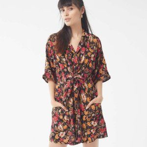 Urban Outfitters Multicolor Aloha Tie-front Dress